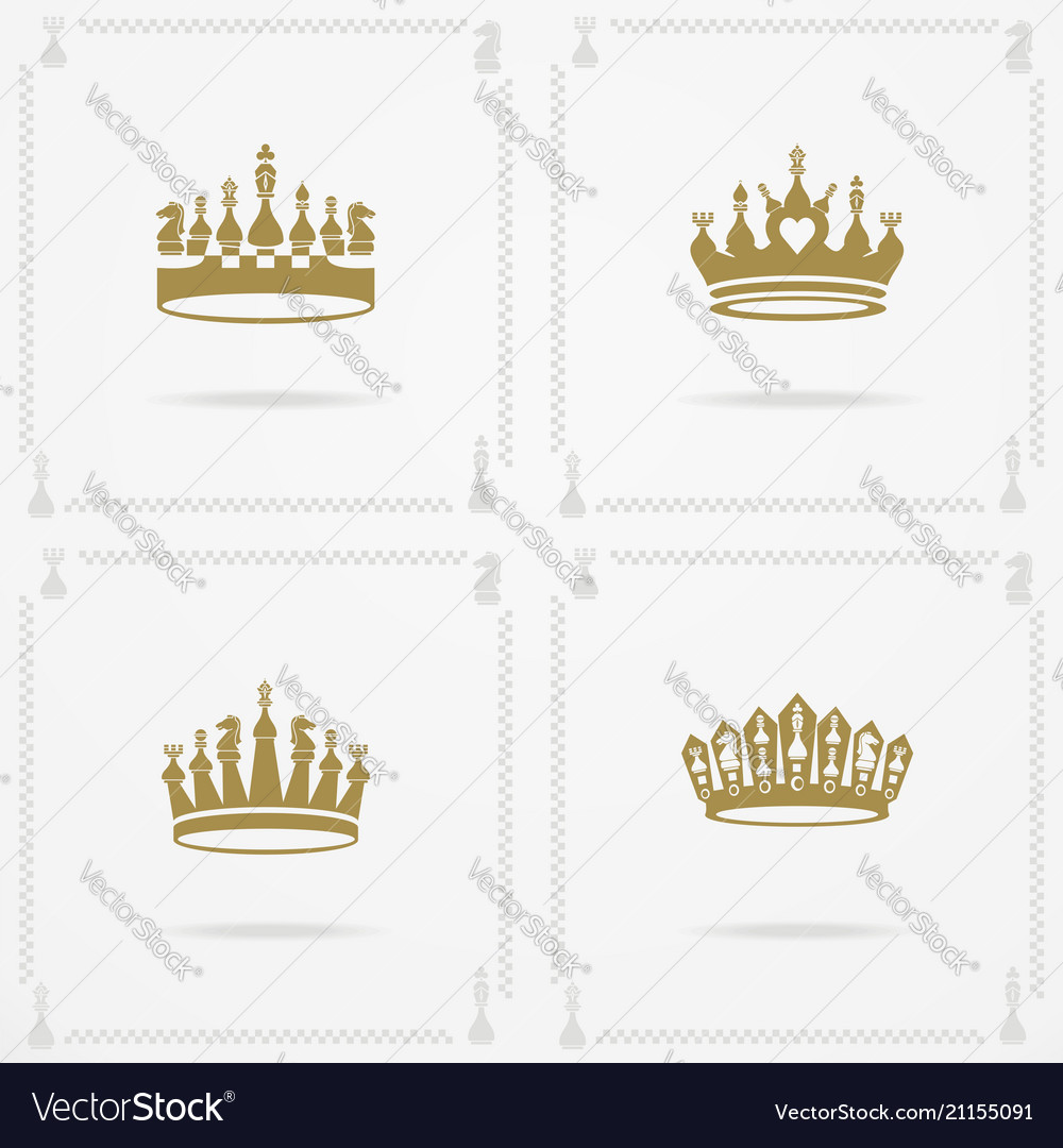 King And Queen Crowns Symbols Royalty Free Vector Image