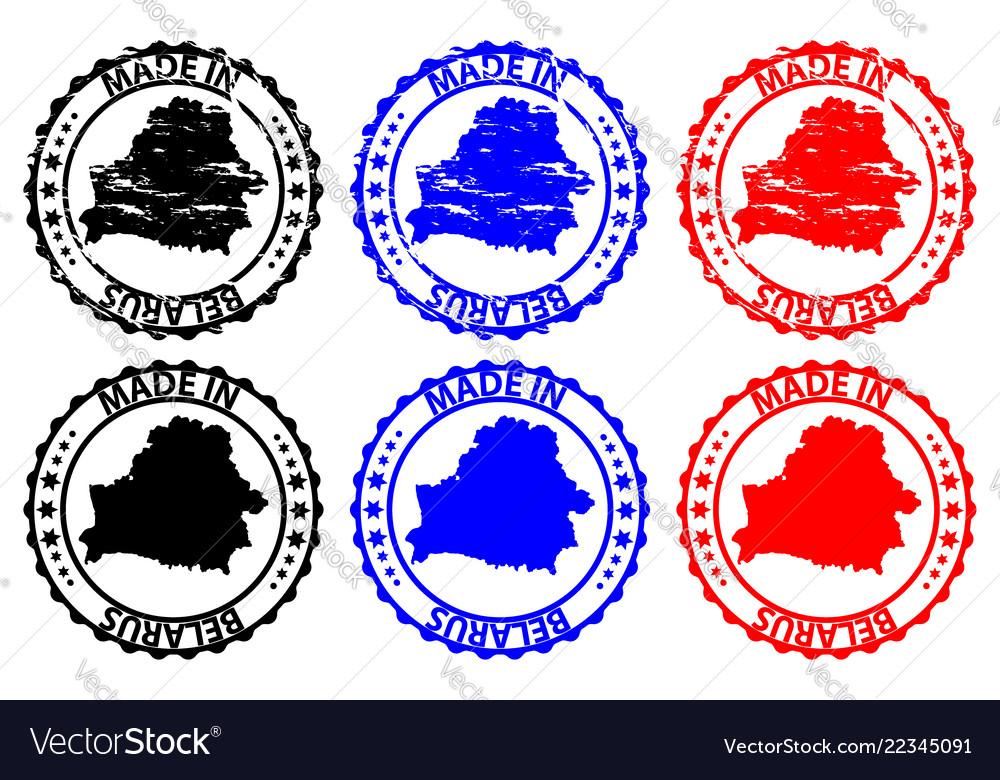 Made in belarus rubber stamp vector image on VectorStock