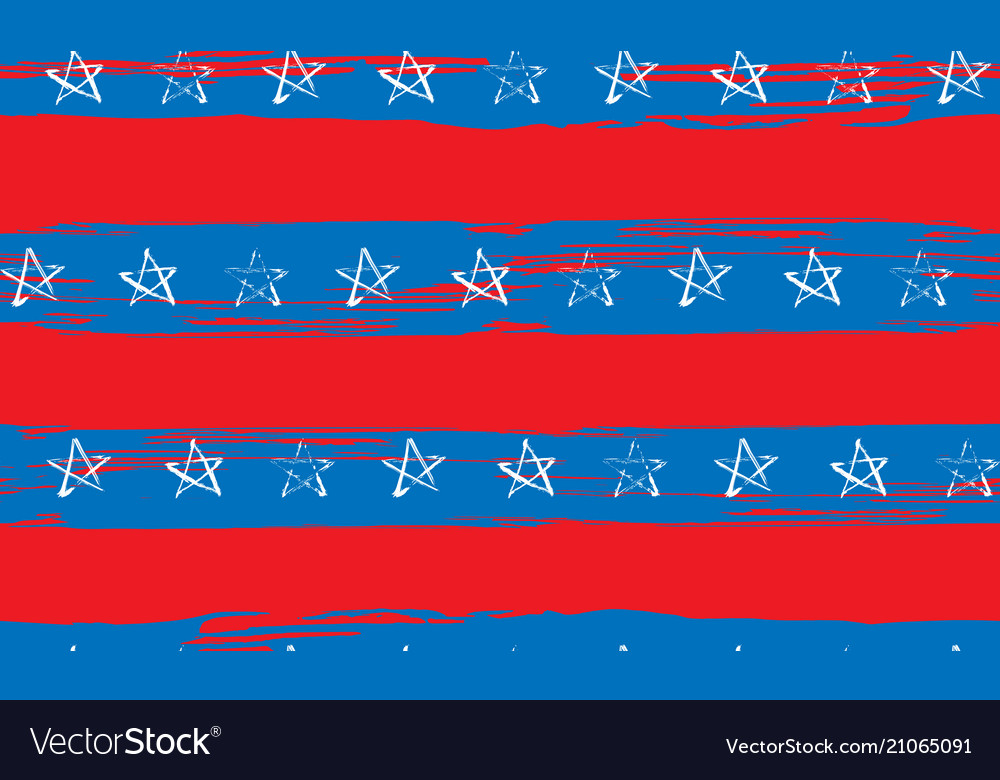 Seamless pattern of stars and stripes