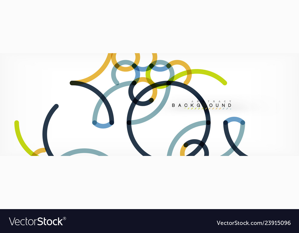 Curly wave lines abstract background design
