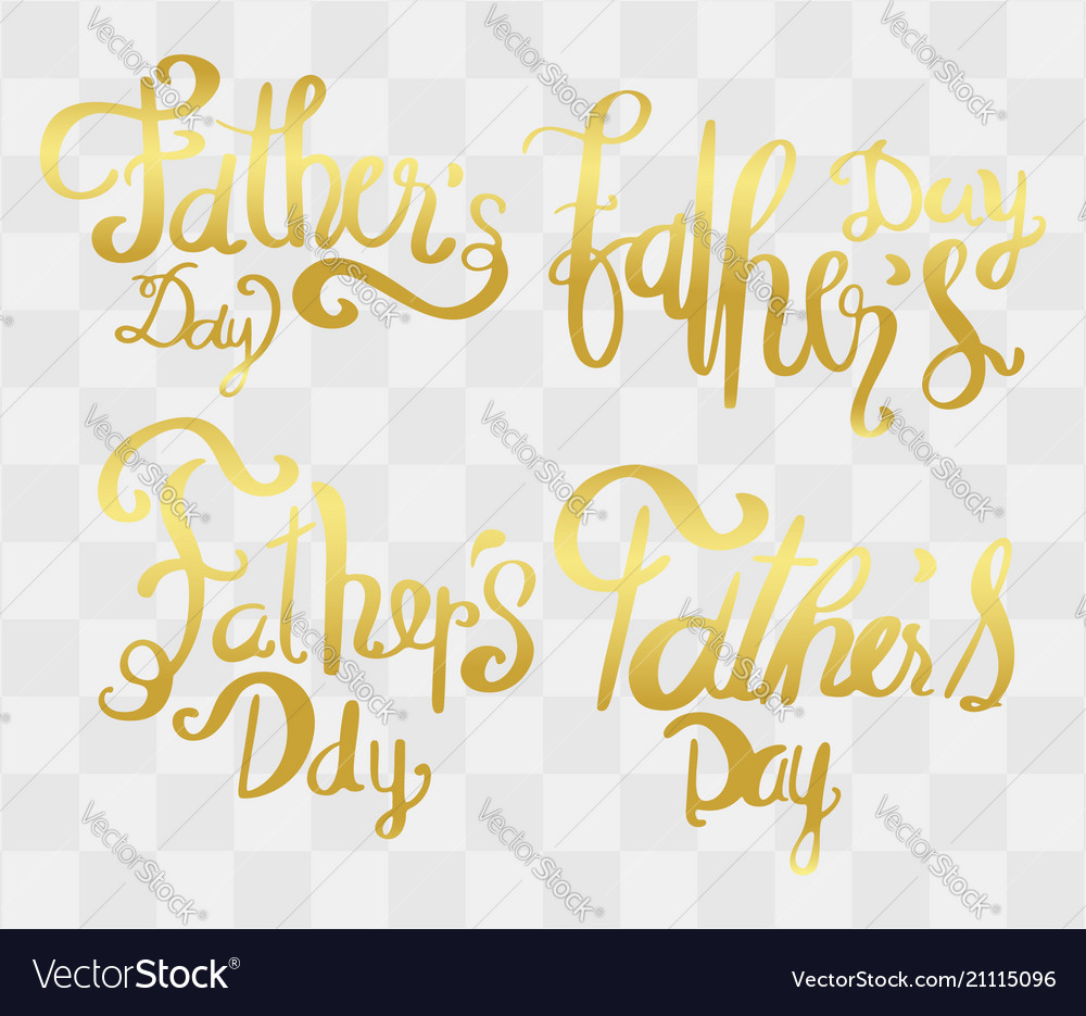 Fathers day calligraphy with abstract idea for