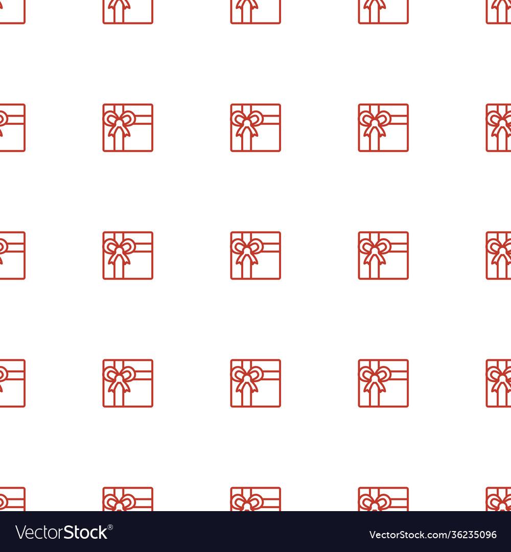 Gift icon pattern seamless white background