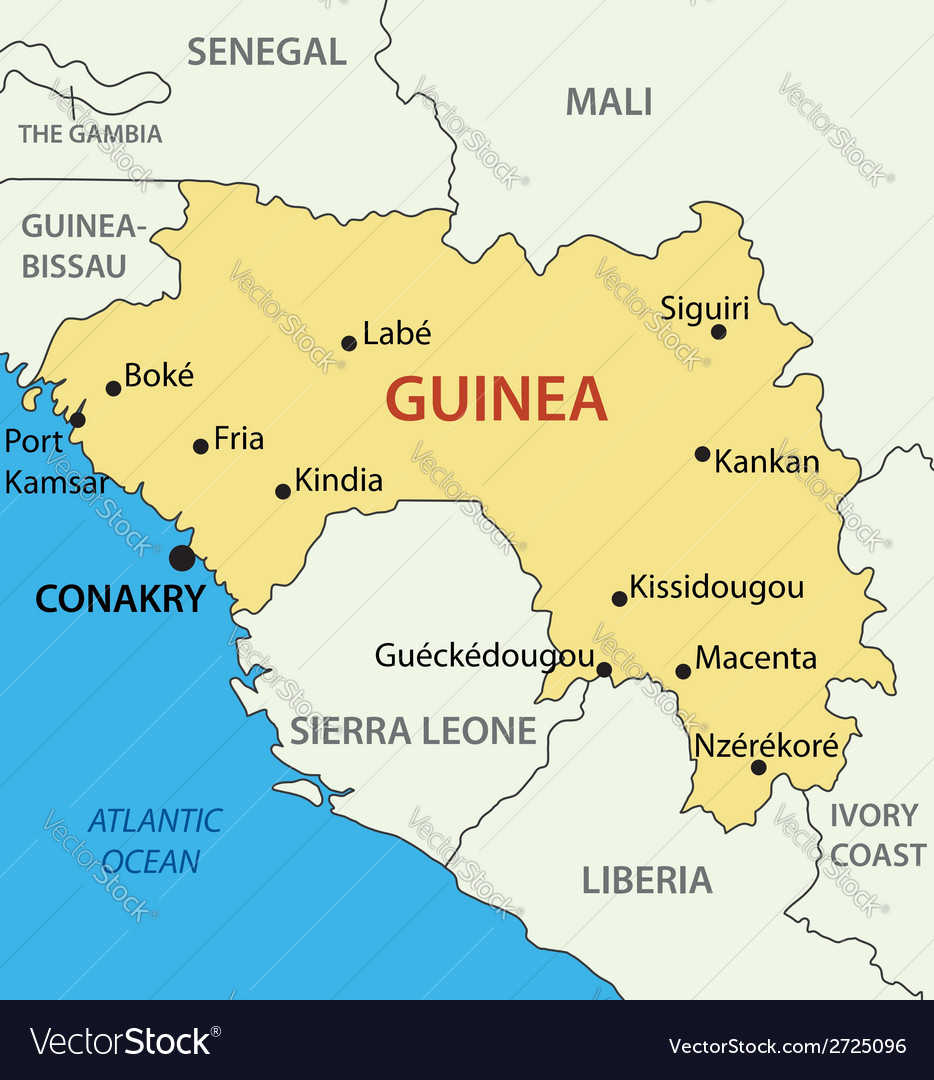 Republic of guinea map royalty free vector image republic of guinea map vector image publicscrutiny Image collections