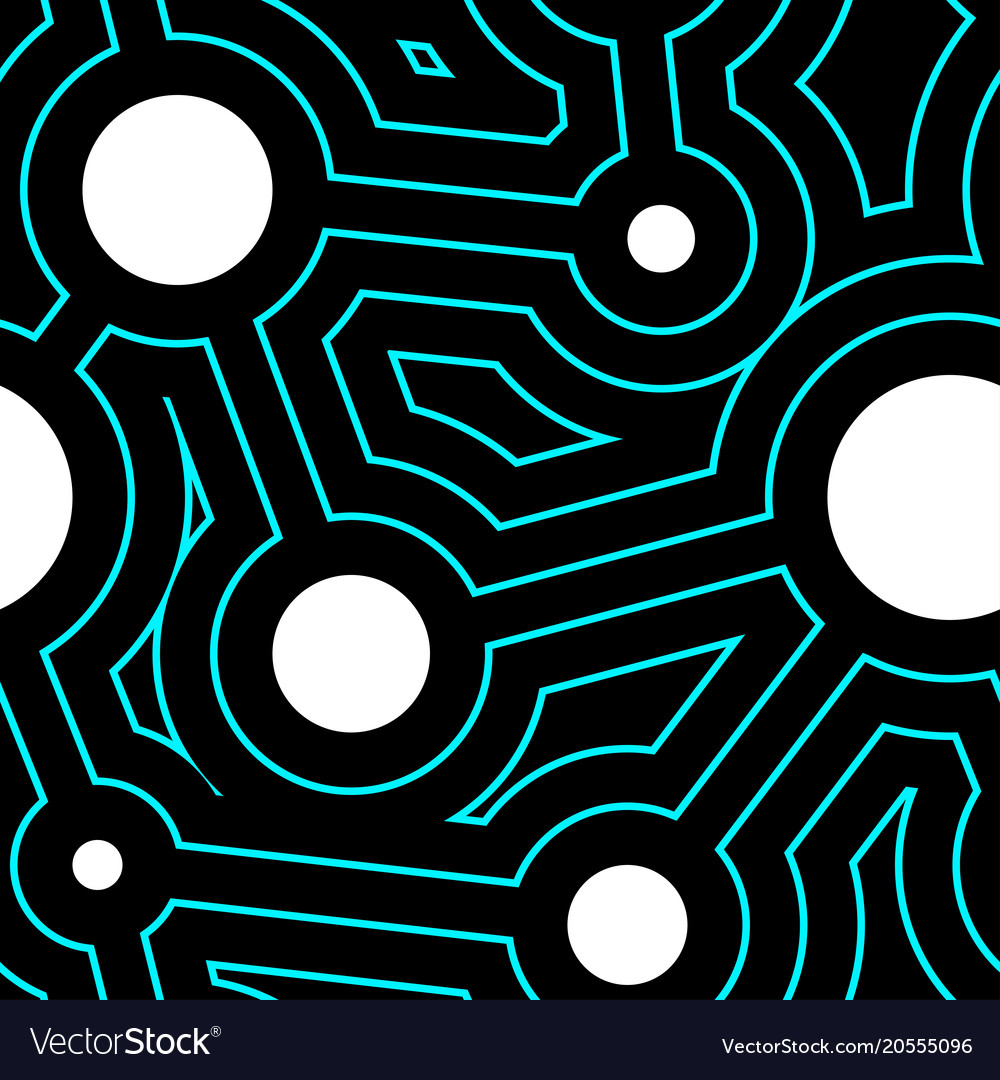 Round lines and circles geometry seamless pattern