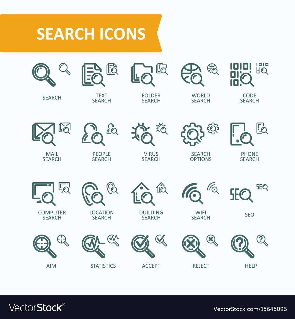 Set fine line icons of