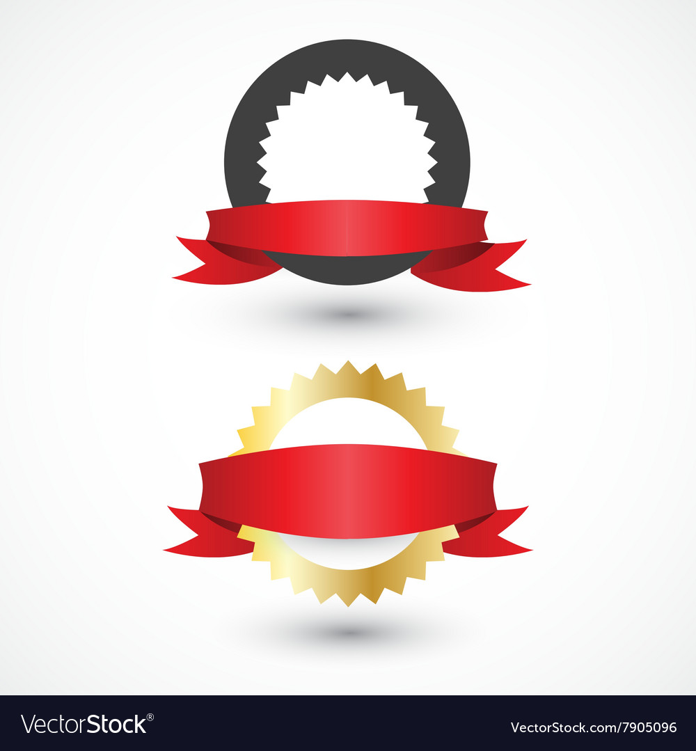 Set of labels with ribbons for your design vector image