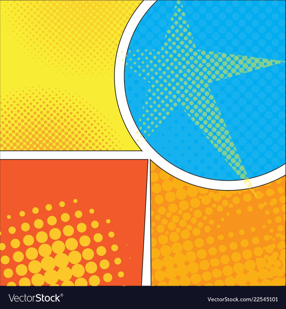 Colored comic page