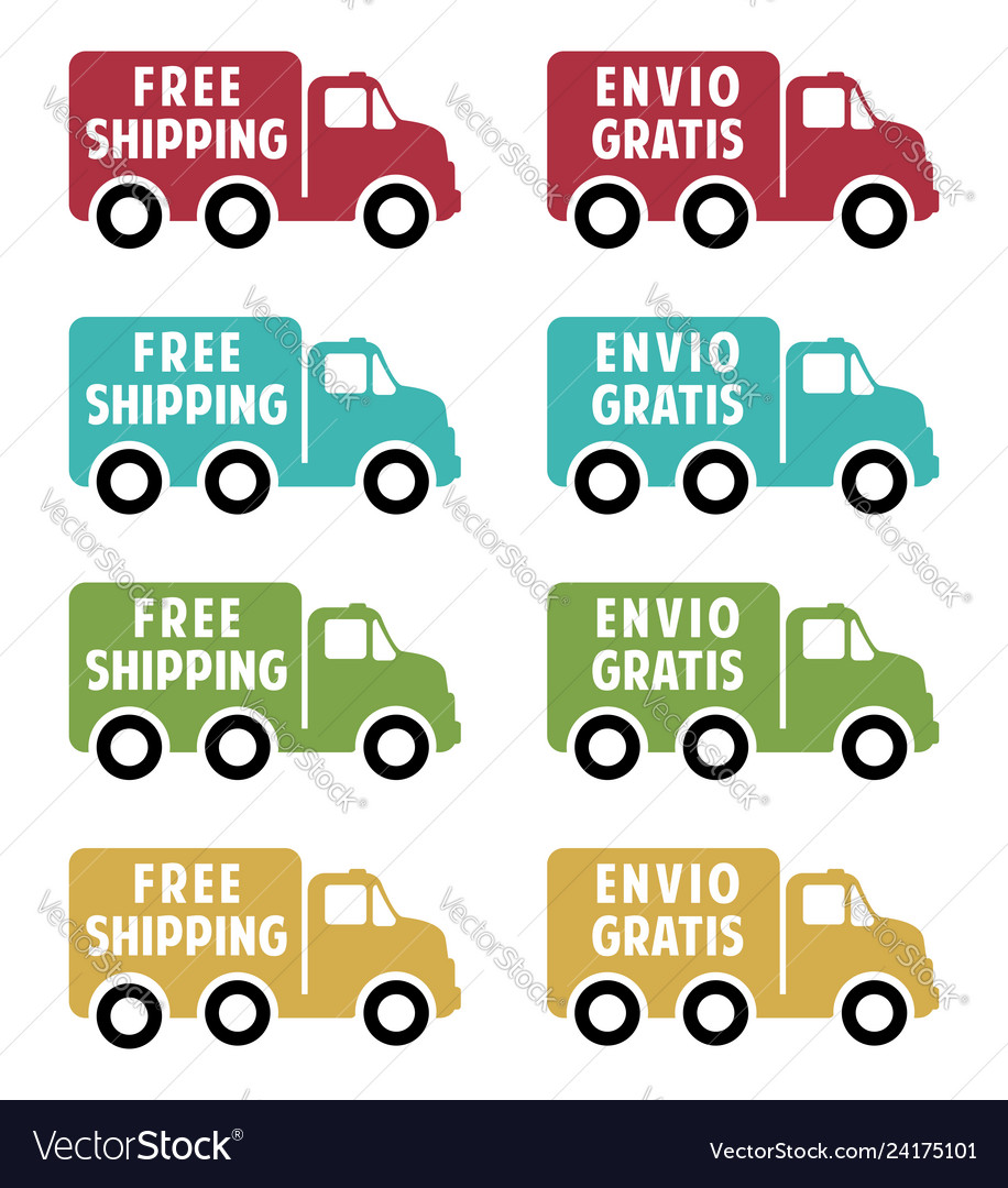 Free shipping flat icons