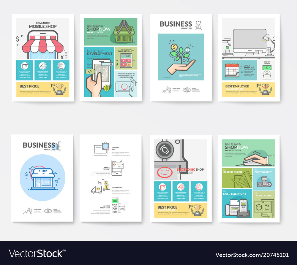 Graphic and multimedia collection templates