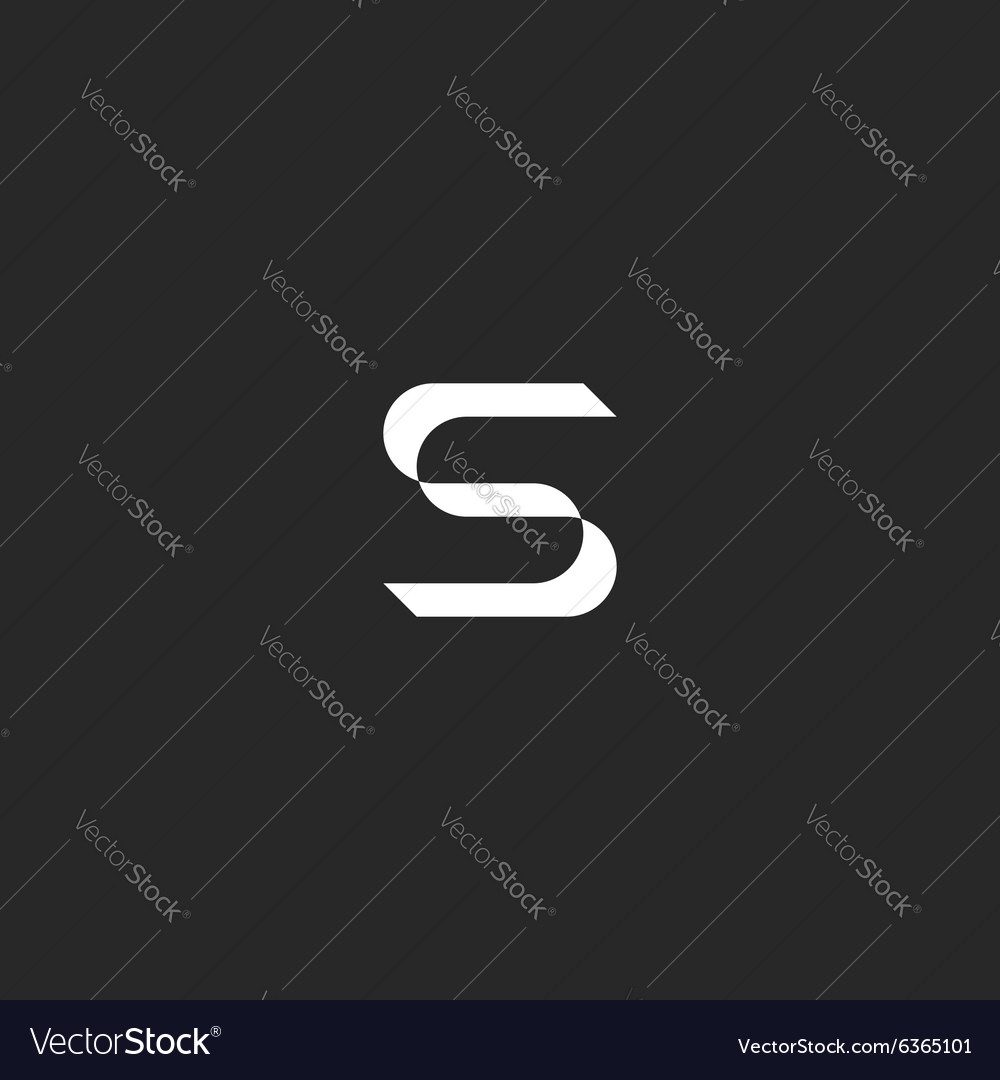 Letter S logo mockup graphic design element icon vector image