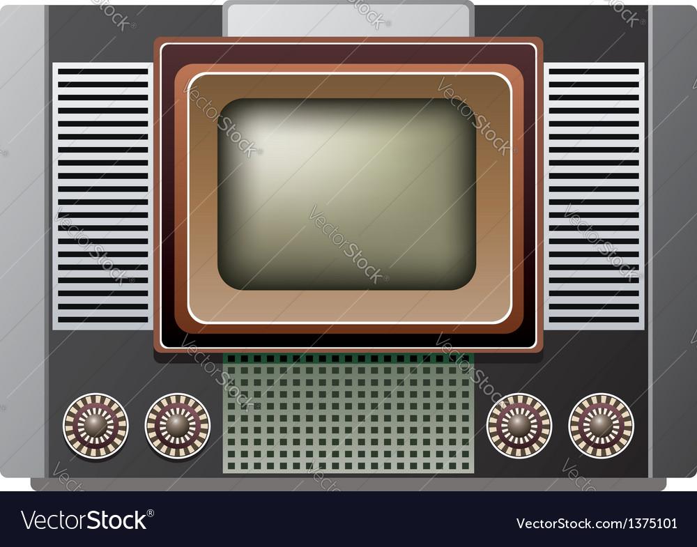 Retro tv set