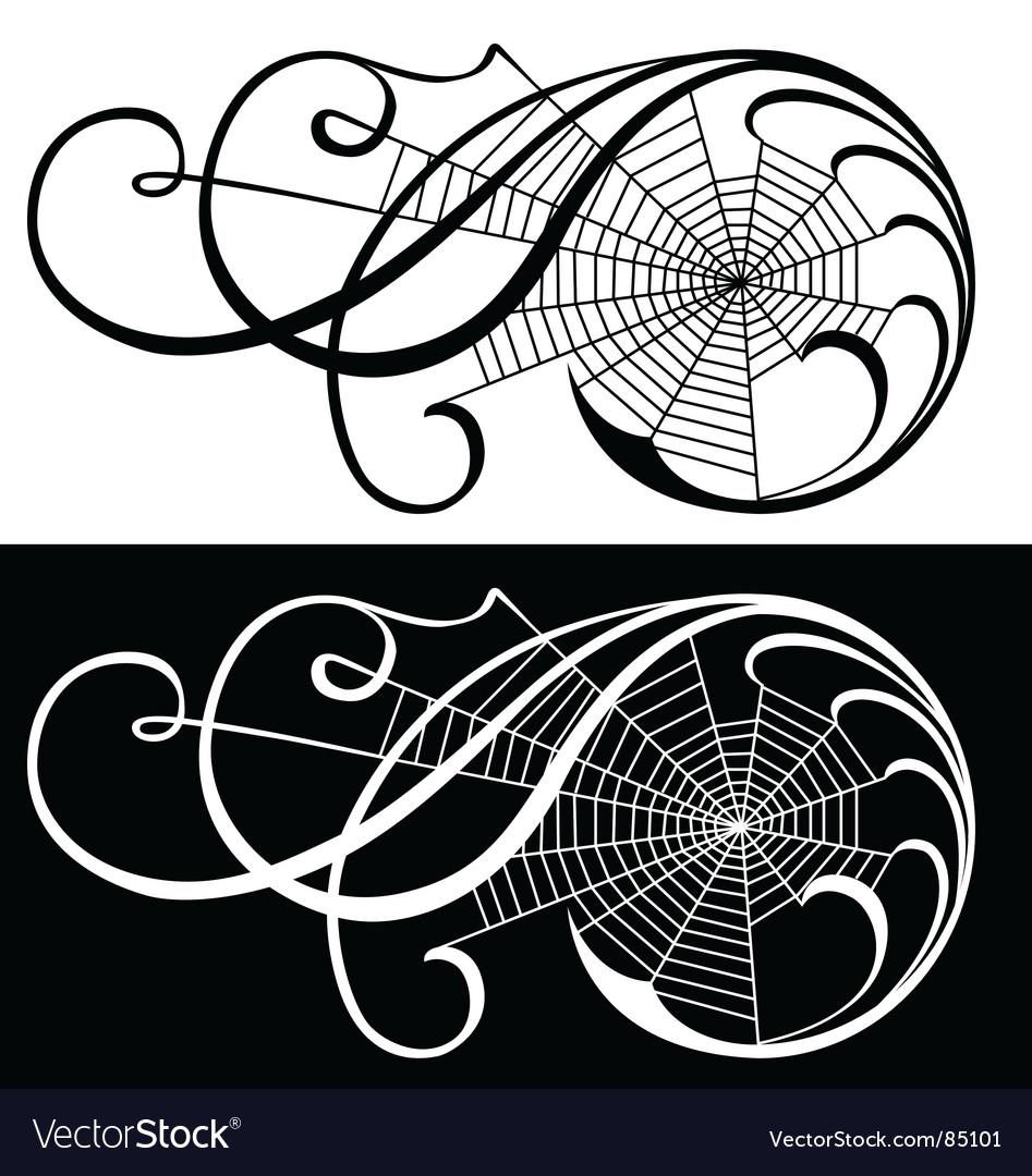 Spider web scroll