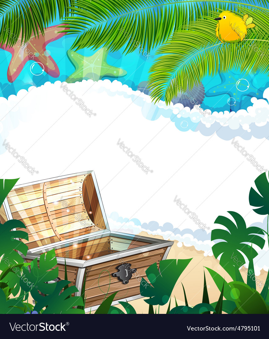 Treasure Chest on the tropical coast