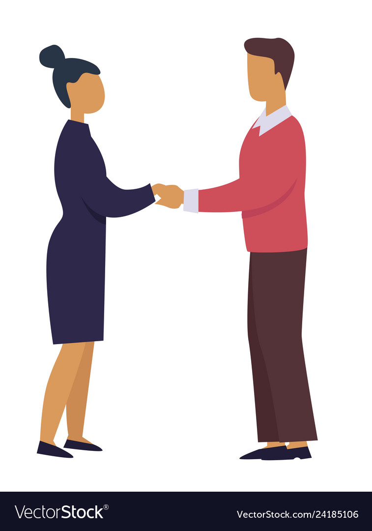 Business professional relationship man and woman