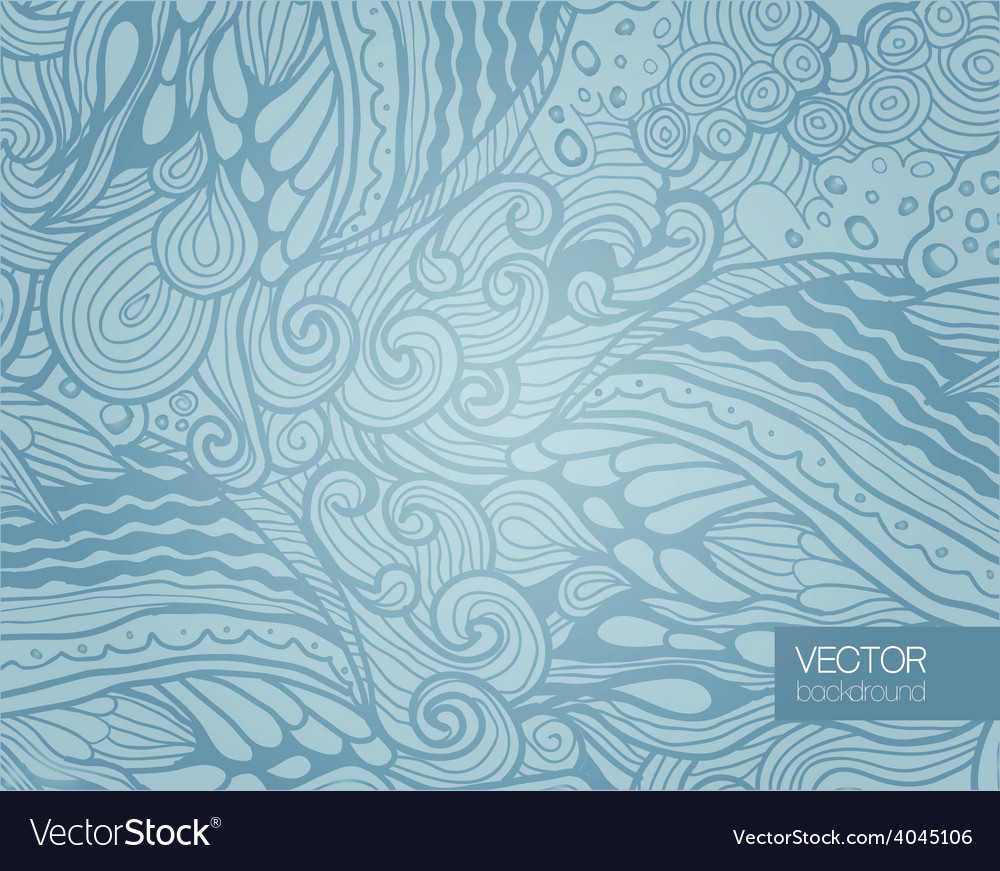 Elegant Blue Abstract Floral Wallpaper