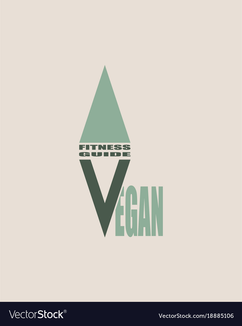 Go vegan logo concept