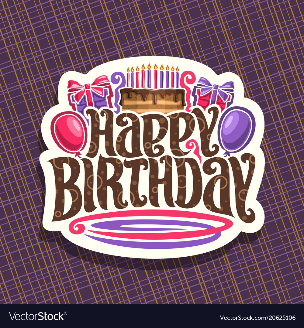 Logo for birthday holiday