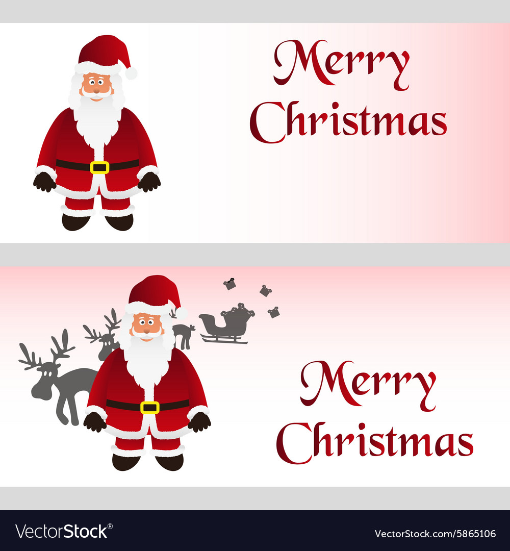 Mery Christmas.Mery Christmas With Cartoon Santa Claus Greeting