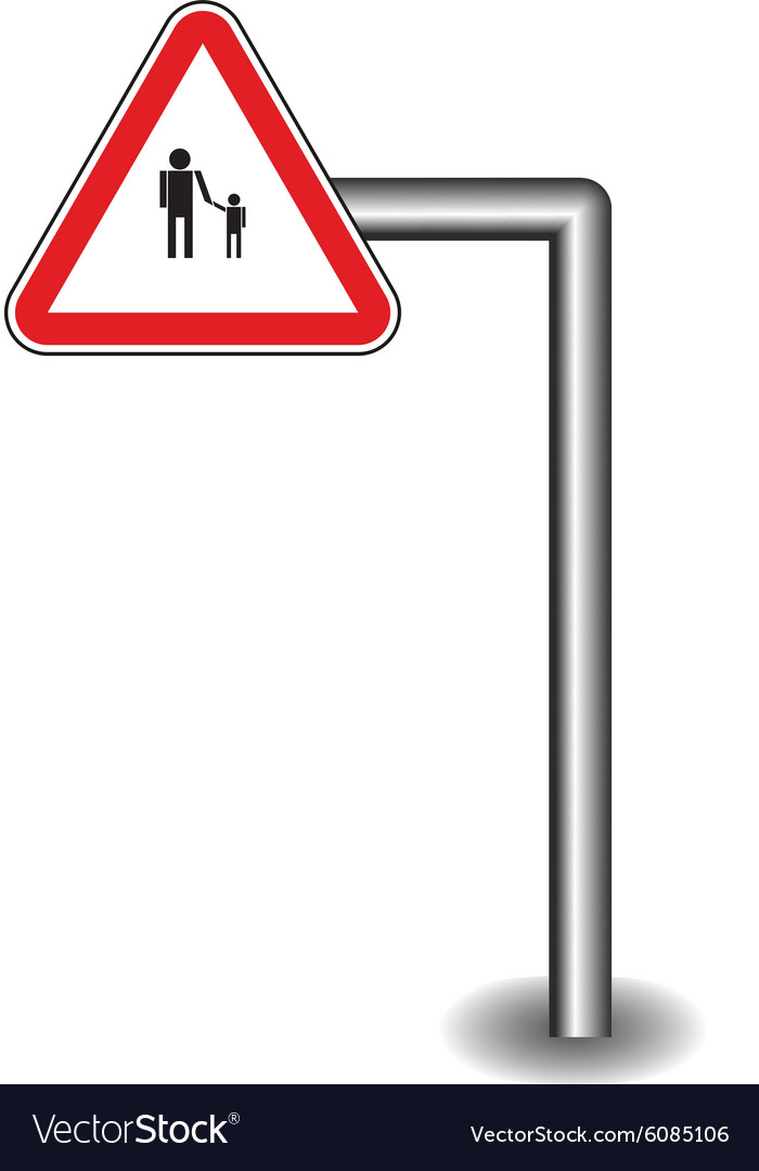 Sign on the stick vector image