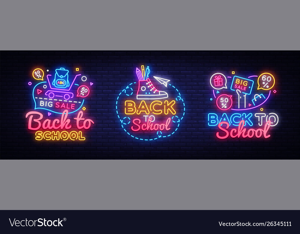 Big collectin neon signs for back to school neon