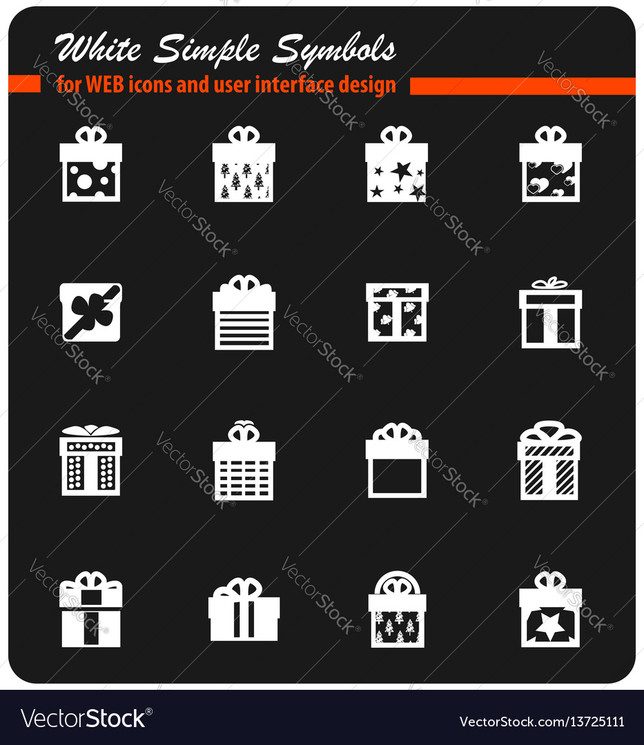 Gifts icon set vector image