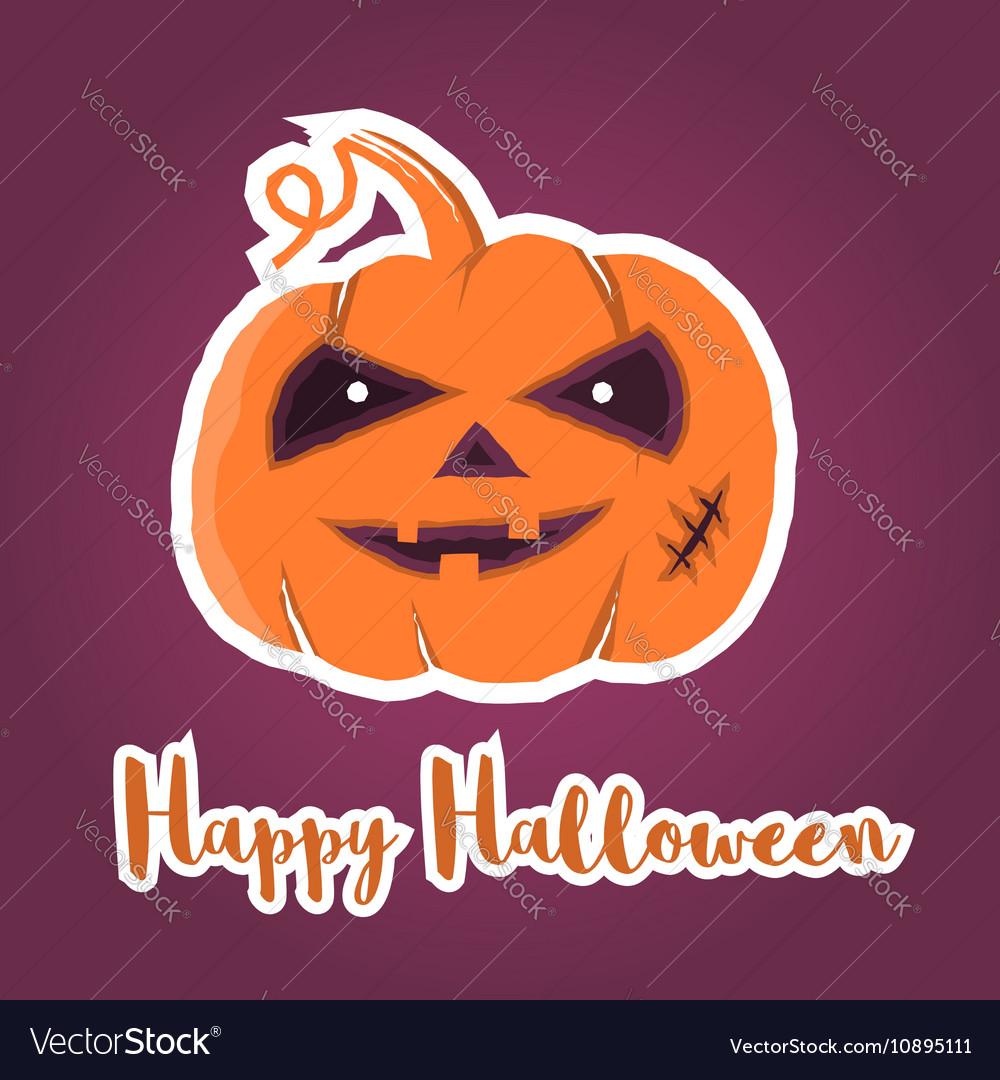 Happy halloween greeting card royalty free vector image happy halloween greeting card vector image m4hsunfo