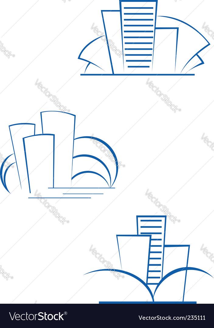 Real estate symbols vector image