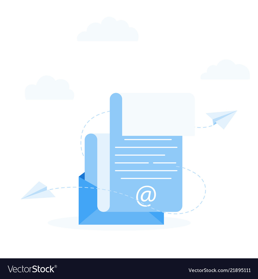 Subscribe to newsletter concept open message