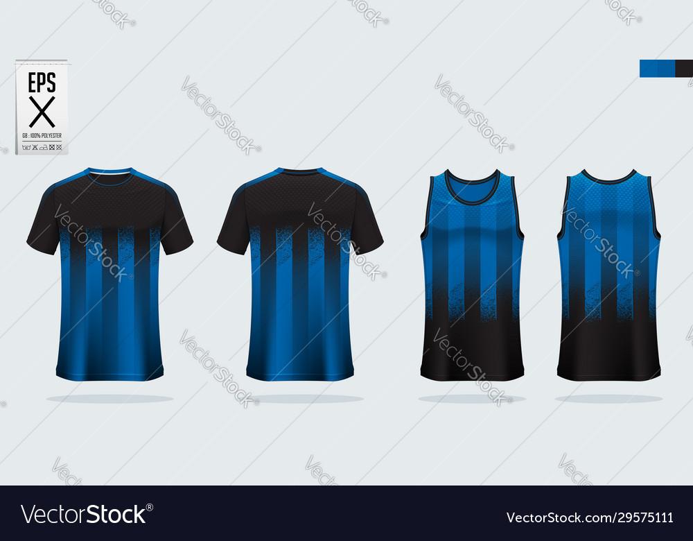 T-shirt sport mockup template design for soccer