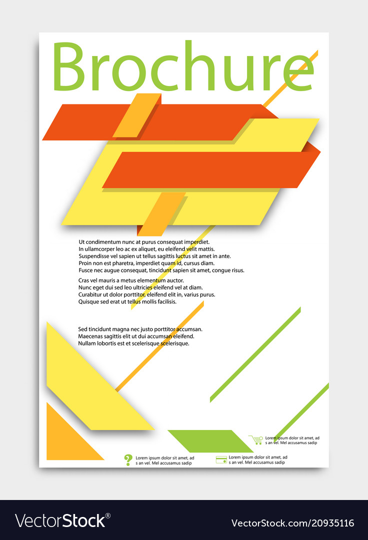 Abstract brochure template flyer layout flat