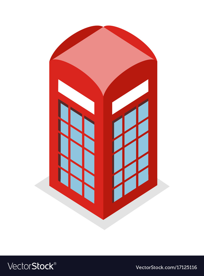 Call box in isometric projection