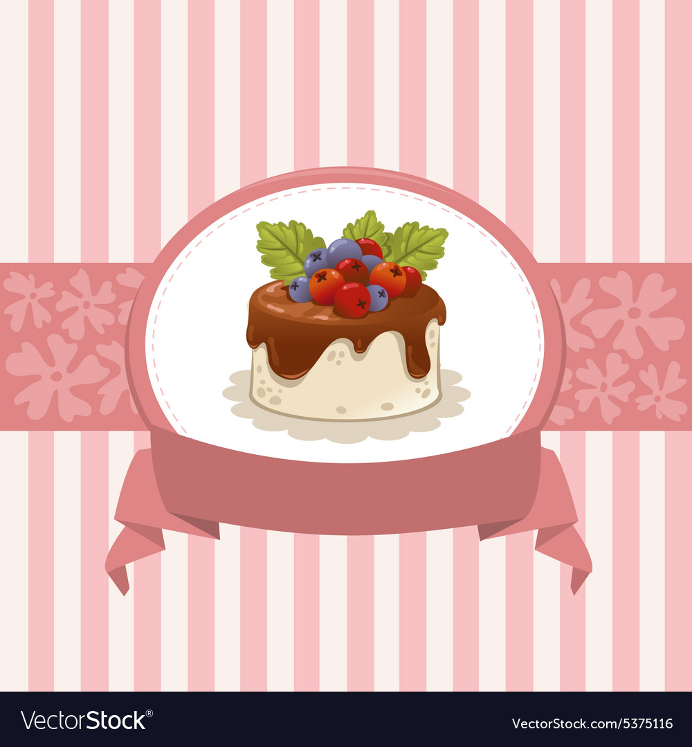 Card design with cupcake