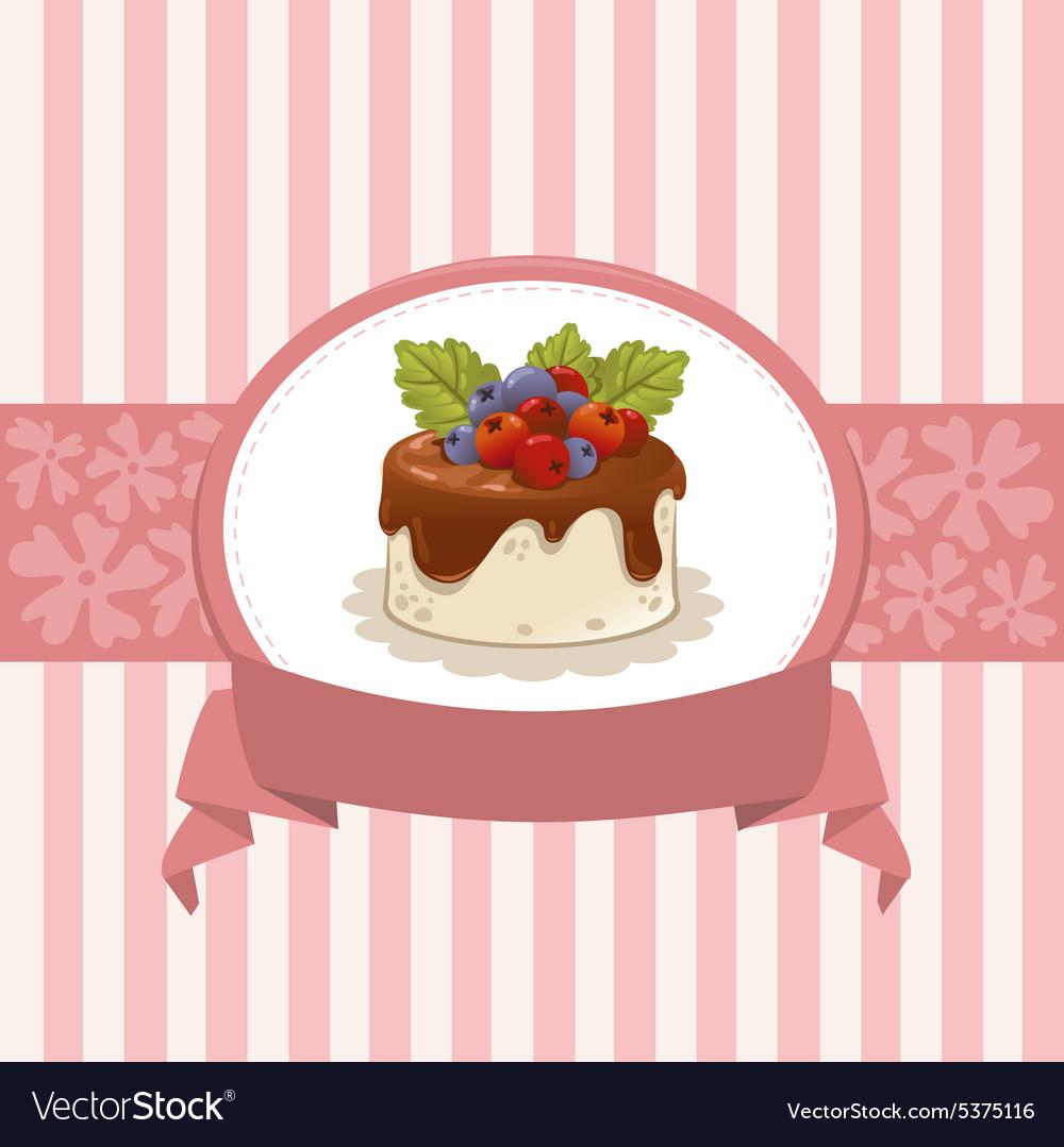 Card design with cupcake