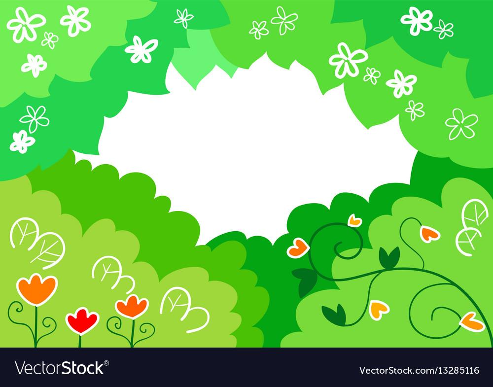 Cartoon spring background
