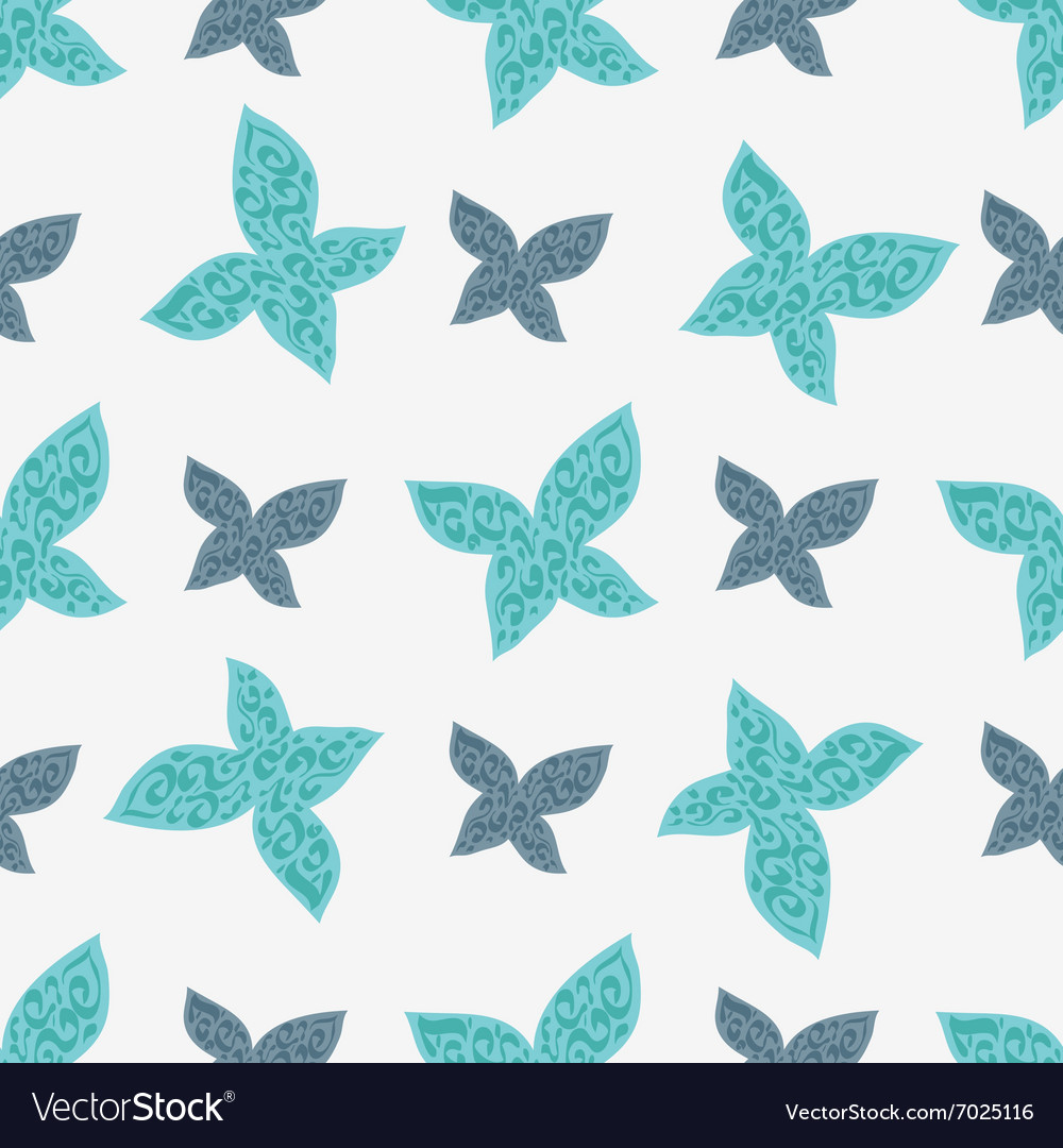 Color seamless pattern of colorful butterflies vector image