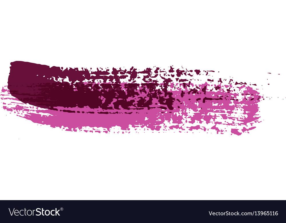 Grunge brush strokes colorful brush vector image