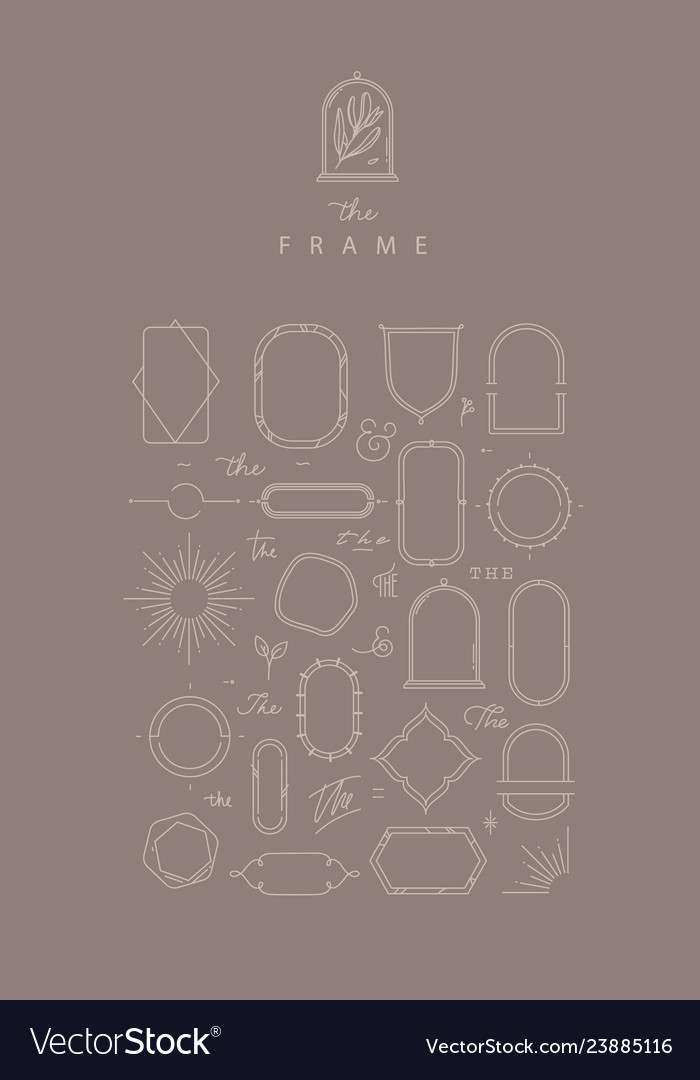 Modern flat frames hot cocoa