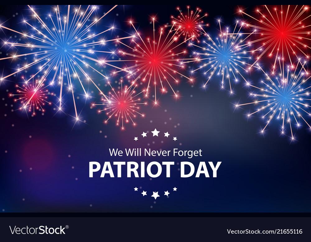 Patriot day background september 11 poster we