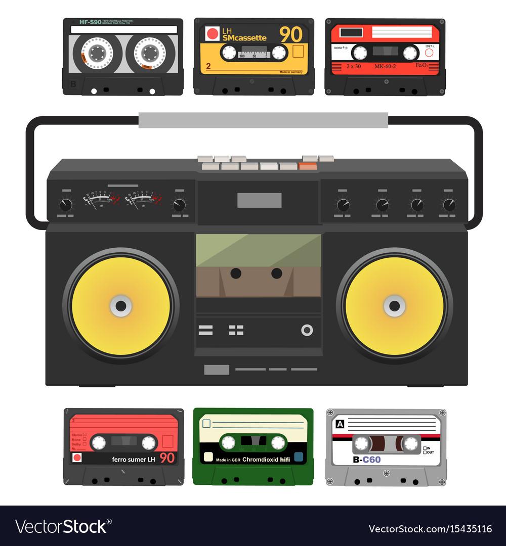Retro record player with stereo cassettes