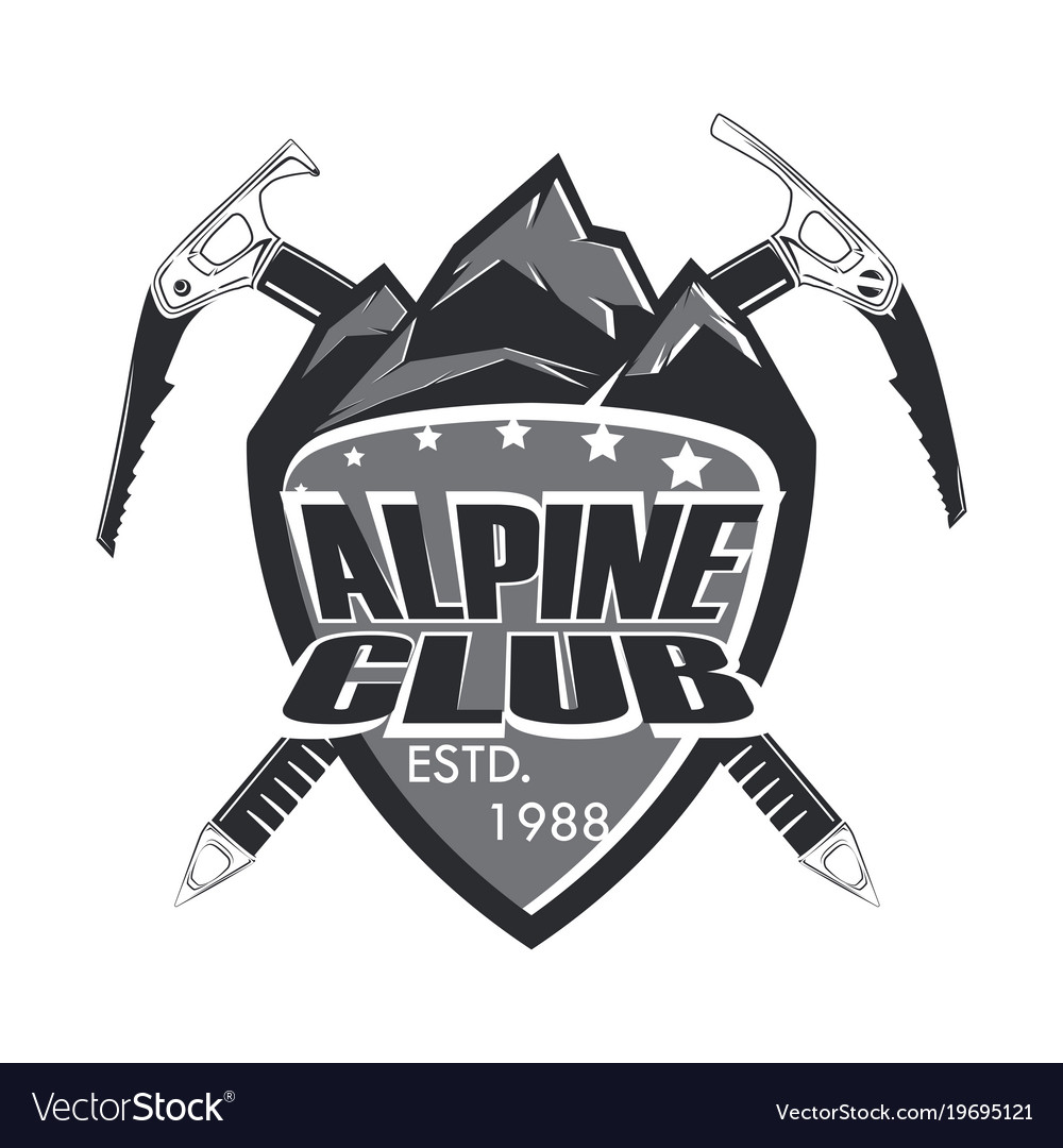 Alpine club badge
