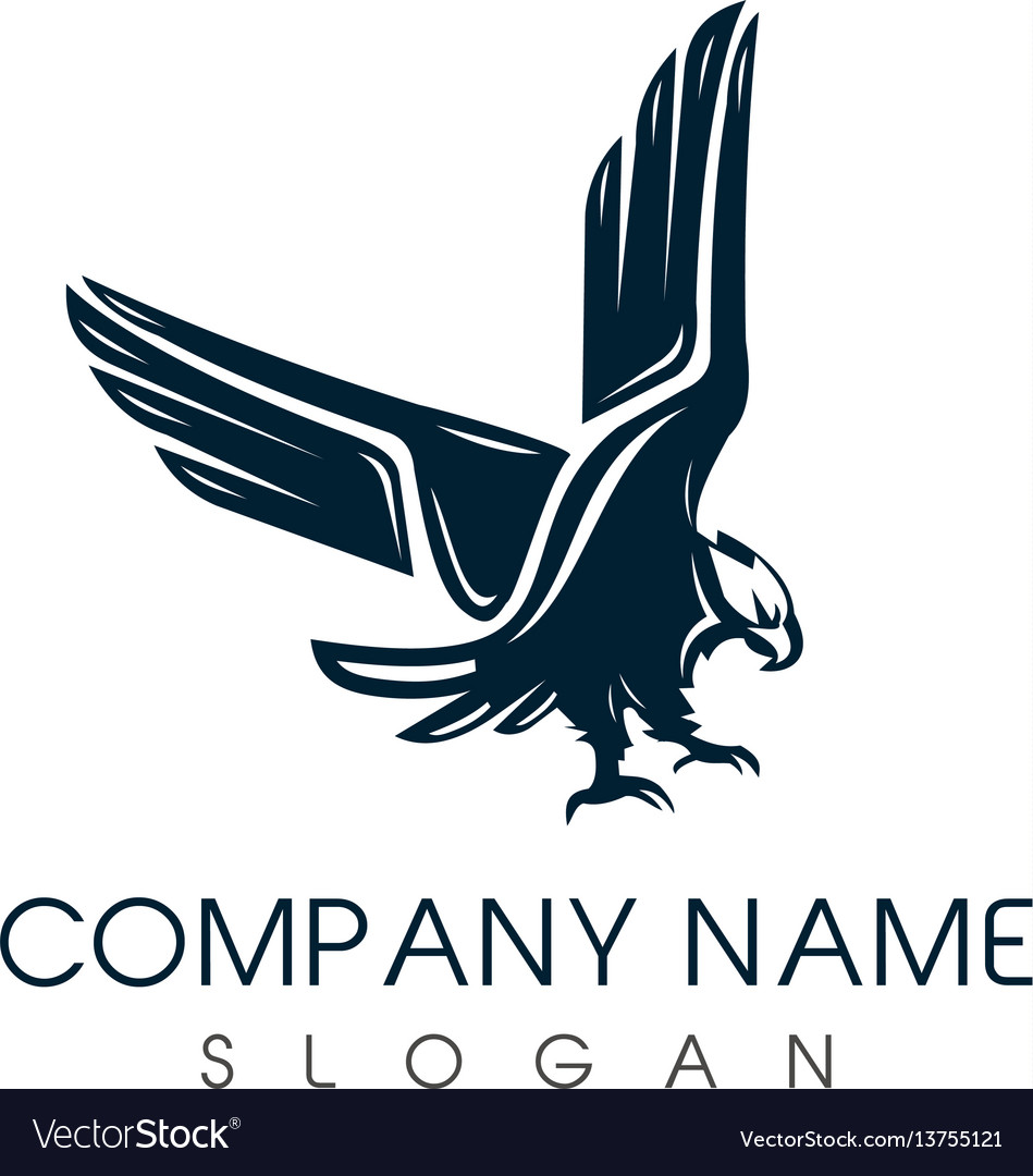 Classic eagle logo vector image