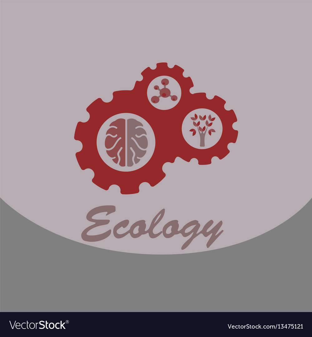 Ecology problem concept in flat stile icons set