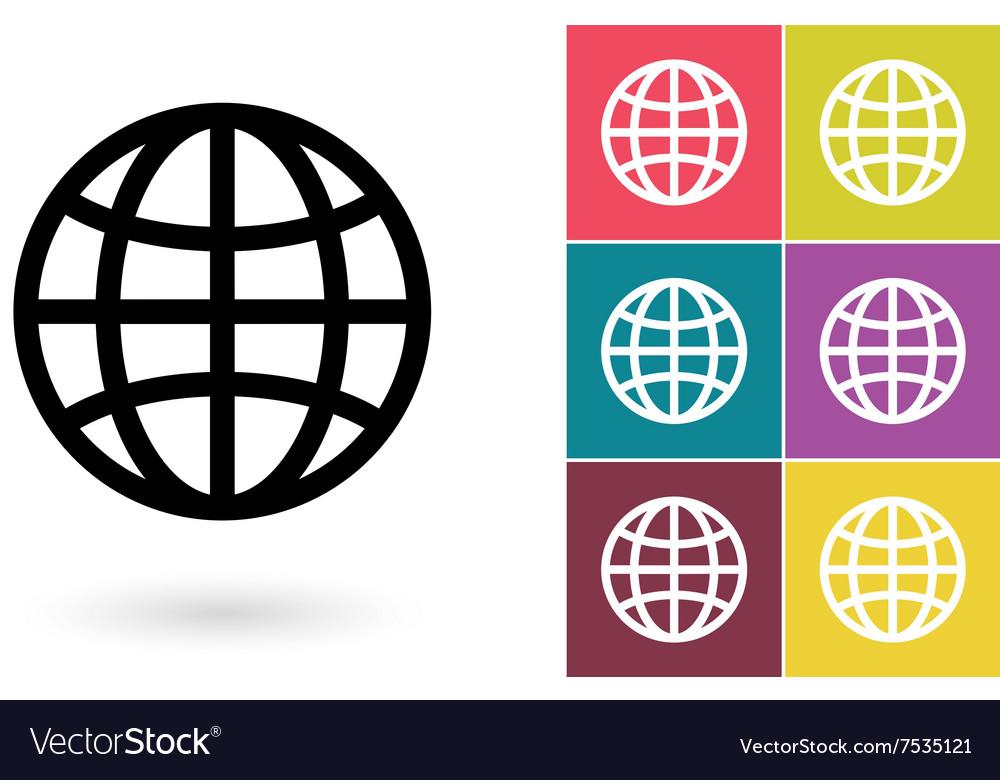 Globe symbol or globe pictogram