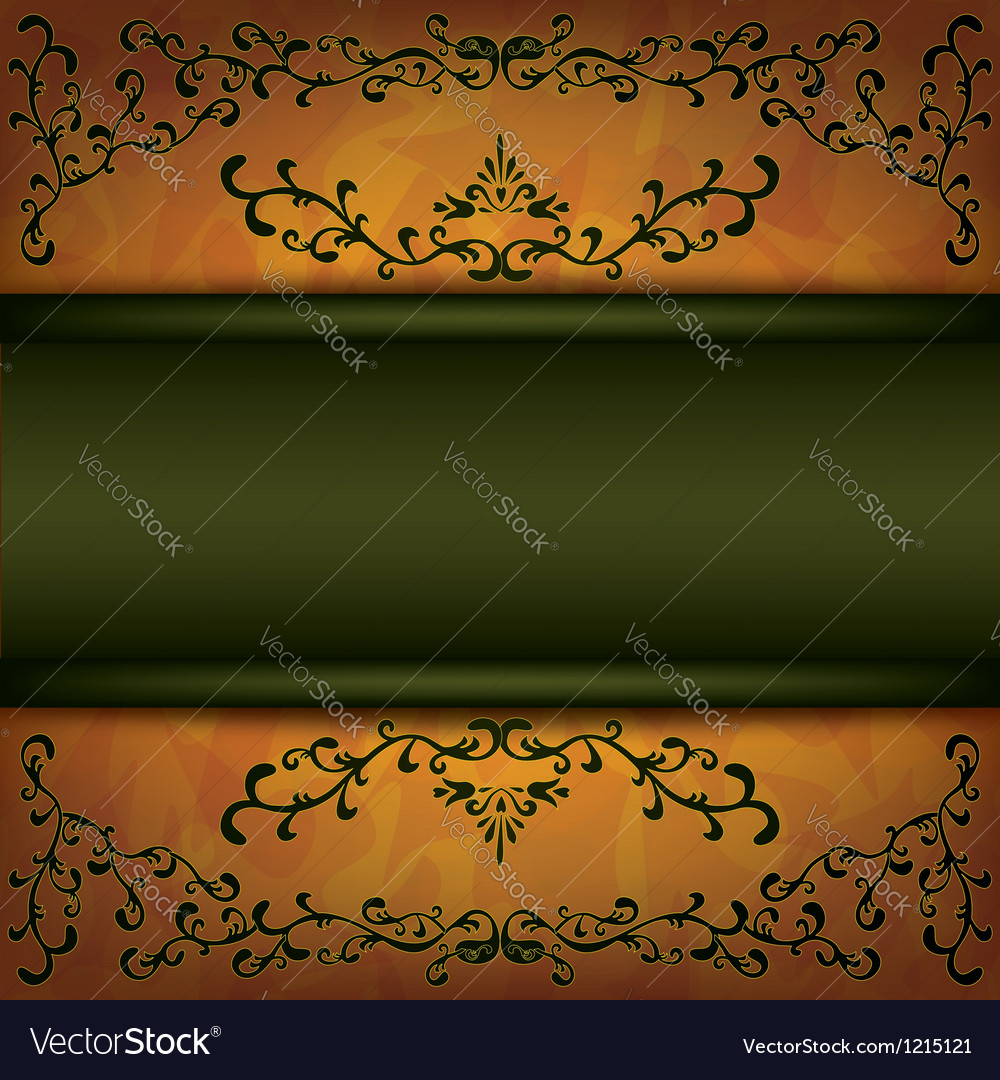 Grunge background with decorative ornament