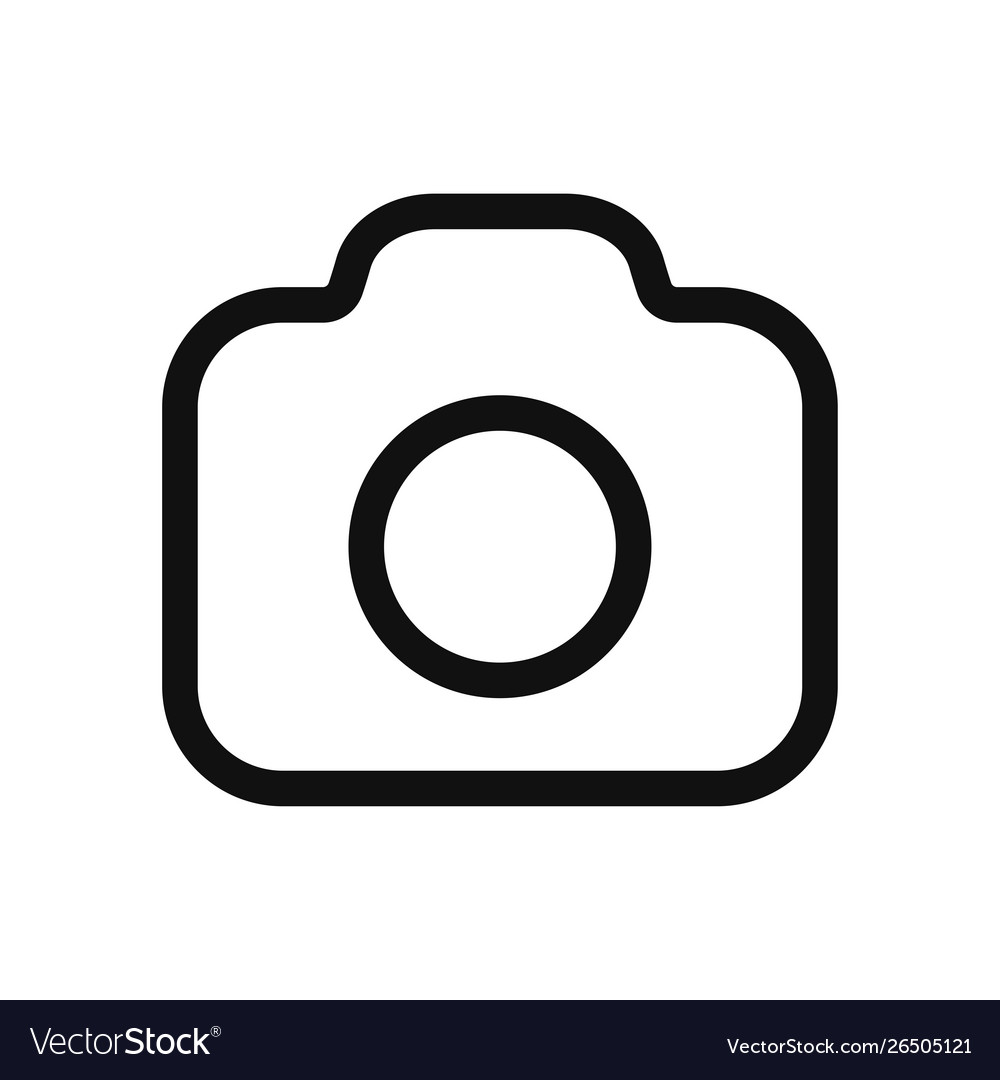 Photo camera icon in modern design style for web