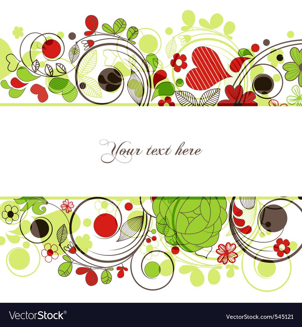Retro floral borders vector image