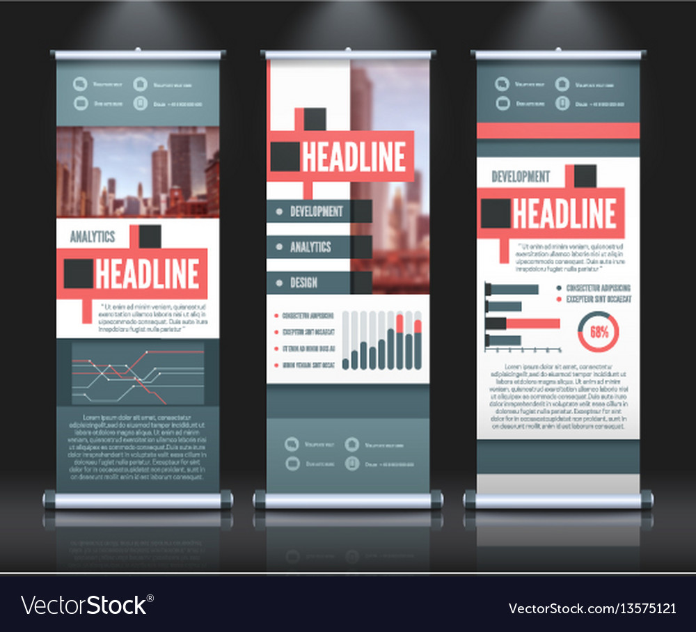 Rollup infographic banners set