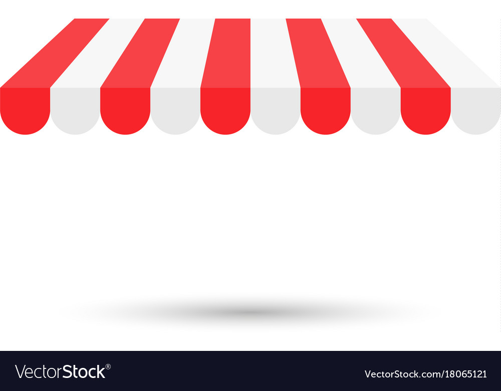 Shop Canopy Royalty Free Vector Image Vectorstock