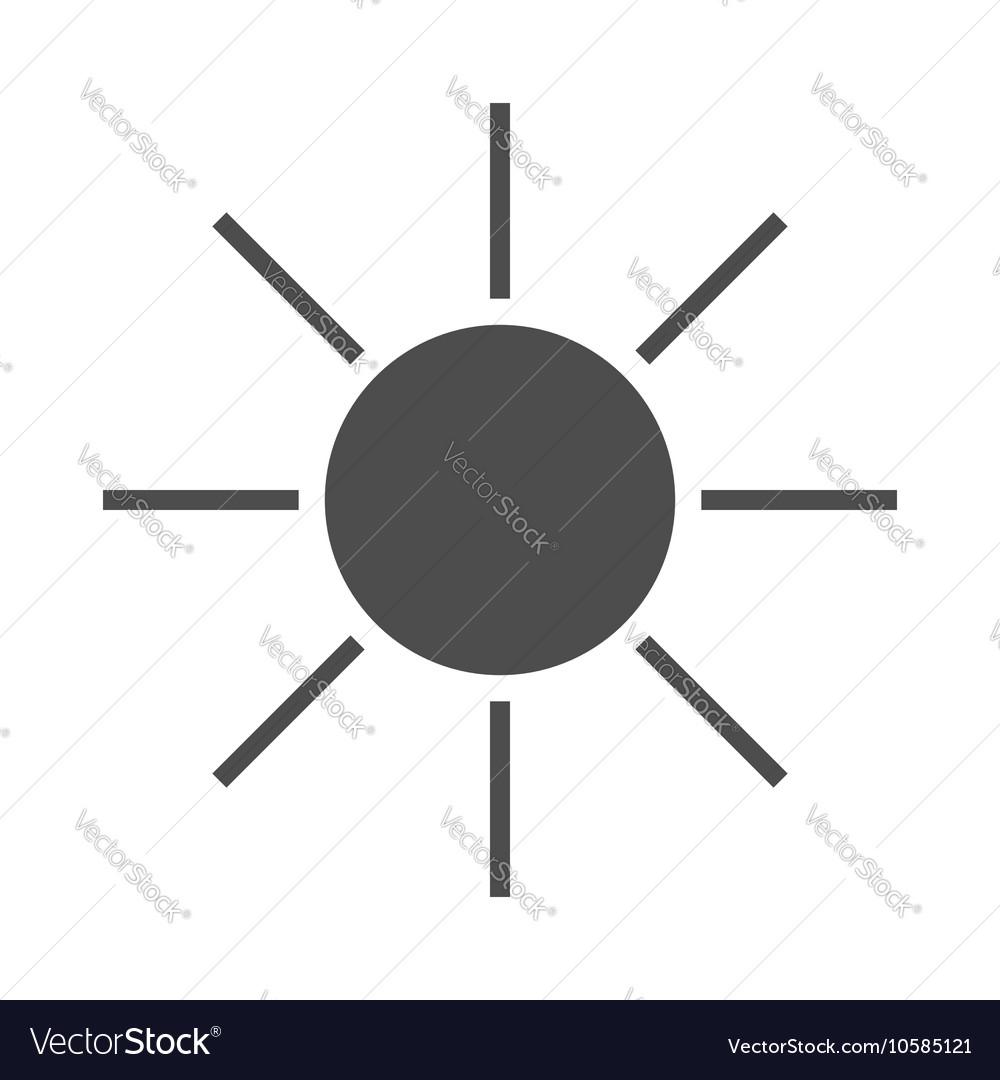 Sun icon black Symbol sunrise