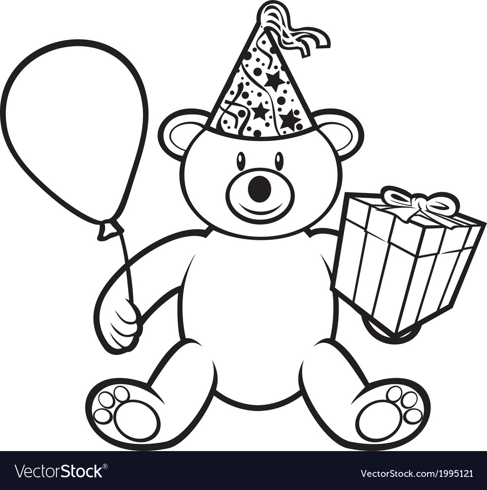 Teddy bear toy with gift box